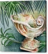 In A Tropical Garden  Canvas Print