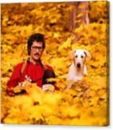 In A Yellow Wood - Paint Canvas Print