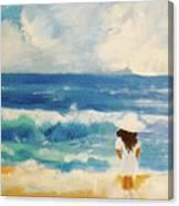 In Awe Of The Ocean Canvas Print