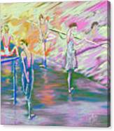 In Ballet Class Canvas Print