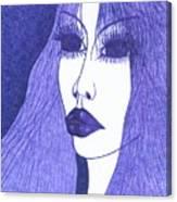 In Blue Colour Canvas Print