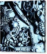 In Blue Nautilus  Canvas Print