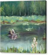 In Company of Bullfrogs Canvas Print