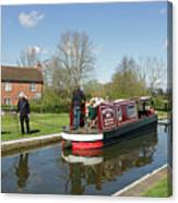 In Papercourt Lock On The Wey Navigations Canvas Print