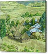 In Selale, Ethiopia Canvas Print