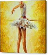 In The Ballet Class Canvas Print