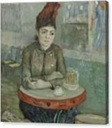 In The Cafe  Agostina Segatori In Le Tambourin Paris January  March 1887 Vincent Van Gogh 1853  Canvas Print