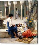 In The Courtyard Of The Harem Canvas Print