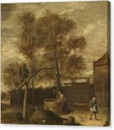In The Farmyard  Canvas Print