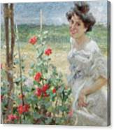 In The Flower Garden, 1899 Canvas Print