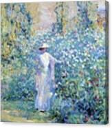 In The Flower Garden 1900 Canvas Print