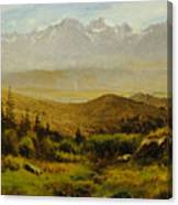 In The Foothills Of The Rockies Canvas Print