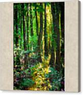 In The Forest With Words Canvas Print