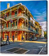 In The French Quarter - 2 Paint Canvas Print