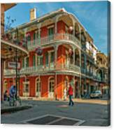In The French Quarter - 3 Canvas Print
