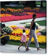 In The Garden Of Monet Canvas Print