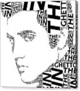 In The Ghetto Elvis Wordart Canvas Print