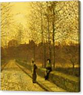 In The Golden Gloaming Canvas Print