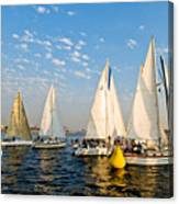 In The Lead At The Pin Canvas Print