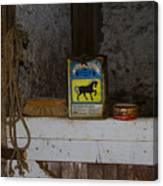 In The Old Horse Barn Canvas Print