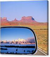 In The Rear View Mirror 2 Canvas Print