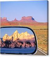 In The Rear View Mirror Canvas Print