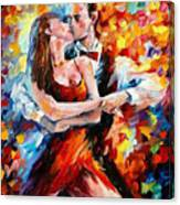 In The Rhythm Of Tango 2 - Palette Knife Oil Painting On Canvas By Leonid Afremov Canvas Print