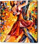 In The Rhythm Of Tango Canvas Print