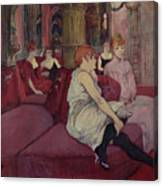 In The Salon At The Rue Des Moulins Canvas Print