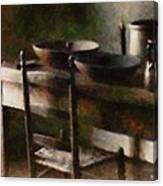 In The Shaker Kitchen Canvas Print