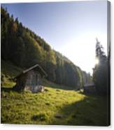 in the Swiss alps Canvas Print