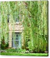 In The Weeping Willows Canvas Print