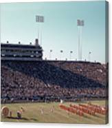 In This Vintage 1955 Photo The University Of Texas Longhorn Band Canvas Print