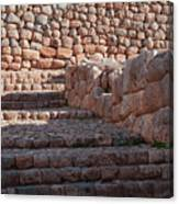 Inca Steps At Chinchero  Canvas Print