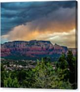 Incoming Storm Over Sedona Canvas Print