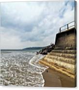 Incoming Tide - Charmouth Canvas Print
