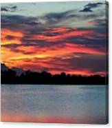 Incredible Red Sky  Canvas Print