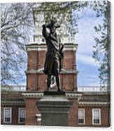 Independence Hall And Commodore Barry Canvas Print