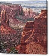 Independence Monument At Colorado National Monument Canvas Print