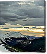 Independence Pass Sunset Canvas Print