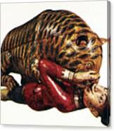India: Tiger Attack Canvas Print