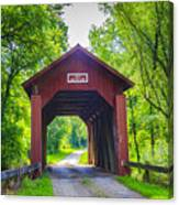 Indian Camp Covered Bridge Canvas Print