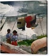 Indian Camp - Roberval P Q Canvas Print