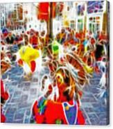 Indian Ceremonial Dance - 2002 Winter Olympics Canvas Print