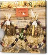 Indian Corn Wreaths Canvas Print