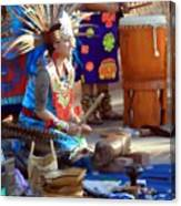 Indian Dancer Drummer 0650 Canvas Print