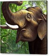 Indian Elephant 1 Canvas Print