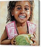 Indian Girl From The Slums Canvas Print