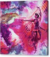 Indian Kathak Dance 87y Canvas Print
