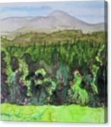 Bullhead Mountain, Indian Lake Overlook Panorama 3 Canvas Print